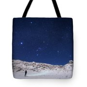 Winter Constellations Tote Bag