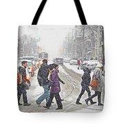 Winter Crossing Tote Bag