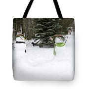 Winter Dance Of The Snow People Tote Bag