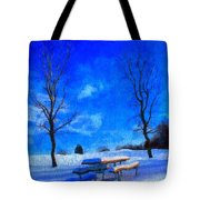 Winter Day On Canvas Tote Bag