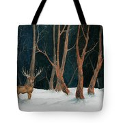 Winter Deer Tote Bag