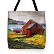 Winter Delaware Farm Tote Bag