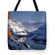612702-winter Desert River, Ut Tote Bag