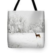 Winter Doe Tote Bag by Mary Jo Allen