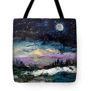 Winter Eclipse Tote Bag