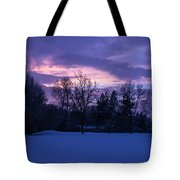 Winter Evening In Grants Pass Tote Bag