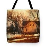 Winter Farhouse Tote Bag