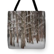 Winter Forest Abstract II Tote Bag
