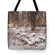 Winter Forest Panorama Tote Bag