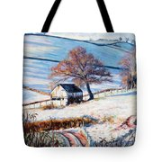 Winter Frost Tote Bag by Tilly Willis