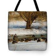 Winter Geese - 01 Tote Bag
