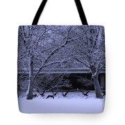 Winter Geese Retreat Tote Bag