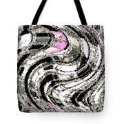 Winter Gestation Abstract Tote Bag