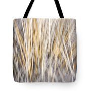 Winter Grass Abstract Tote Bag