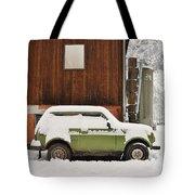 Under Snow Tote Bag