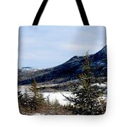 Winter Has Arrived In The Valley Tote Bag