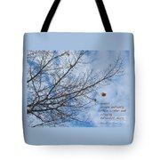 Winter Hope Tote Bag