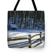 Winter Hut Tote Bag