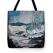Winter In Ancient Ruins Tote Bag