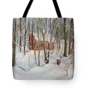 Winter In Campton New Hampshire Tote Bag