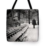 Winter In Central Park Tote Bag