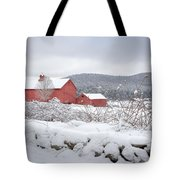 Winter In Connecticut Tote Bag by Bill Wakeley