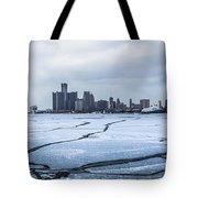Winter In Detroit  Tote Bag