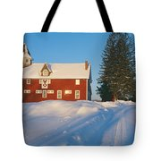 Winter In New England, Mountain View Tote Bag