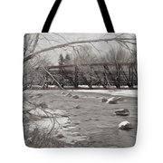 Winter In Pencil Tote Bag