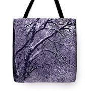 Winter In Purple Tote Bag