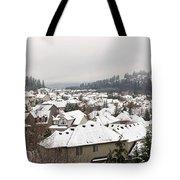 Winter In Residential Suburban City Tote Bag