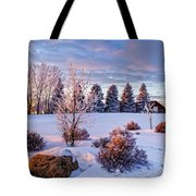Winter In Pink Color Tote Bag