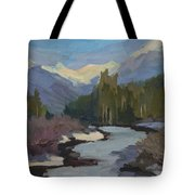 Winter In The Cascade Mountains Tote Bag