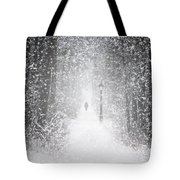 Snowing In The Forrest Tote Bag