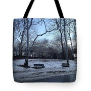 Winter In The Park Tote Bag