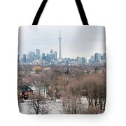 Winter In Toronto Tote Bag