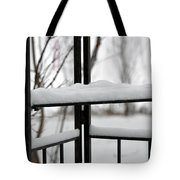Winter Ironwork Tote Bag