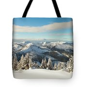 Winter Landscape In British Columbia Tote Bag
