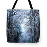 Winter Lane Tote Bag