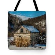Winter Logcabin Tote Bag