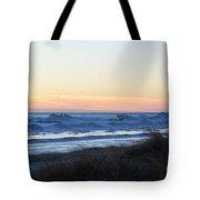 Winter Ludington Shore Tote Bag