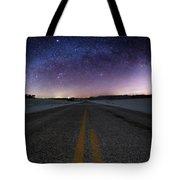 Winter Milky Way Tote Bag