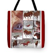Winter Moments- With The Flashy Paso Fino Stallion Tote Bag