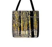 Winter Mood Lighting Tote Bag