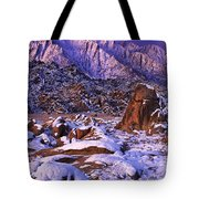 Winter Morning Alabama Hills And Eastern Sierras Tote Bag