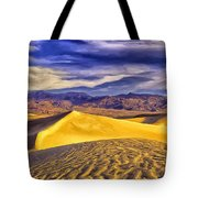 Winter Morning At Death Valley Tote Bag