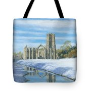 Winter Morning Fountains Abbey Yorkshire Tote Bag