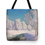 Winter Morning In Engadine Tote Bag