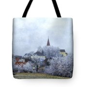 Winter Morning In My Village Tote Bag
