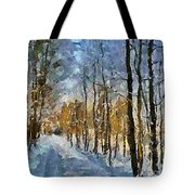 Winter Morning In The Forest Tote Bag
